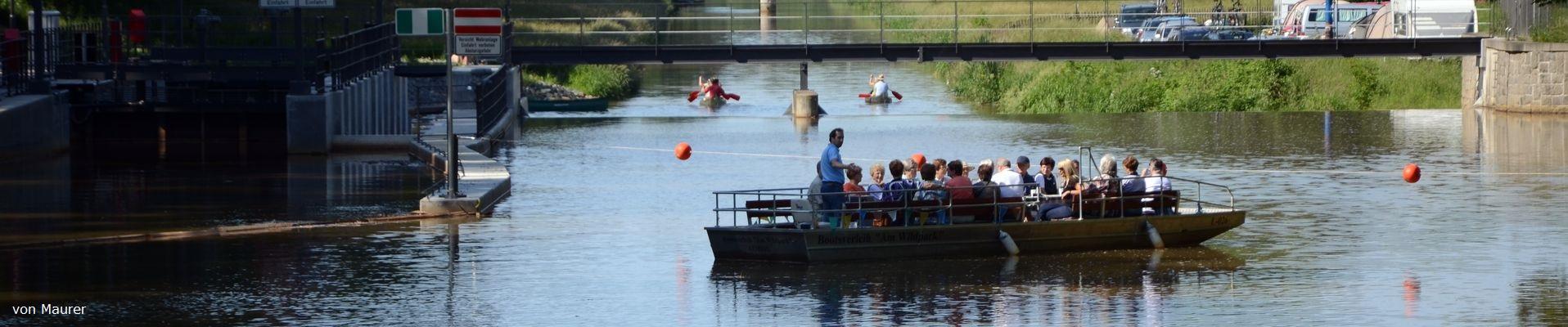 Bootsverleih am Wildpark Motorboottour Slider